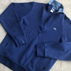 Lacoste Zip Pullover 4 Medium Blue Sweater